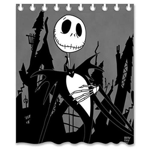 nightmare before christmas shower curtain designs cute skull shower curtain waterproof polyester curtains for bathroom home decor size 150x180cm - Nightmare Before Christmas Bathroom Decor