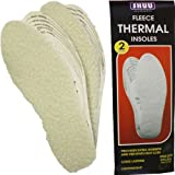 2 Pairs Luxury Fleece Fleecy Thermal Insoles One Size