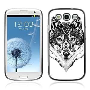 YOYOSHOP [Beautiful Pattern Wolf Art] Samsung Galaxy S3 Case