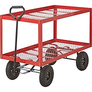 Extra-Large Double Deck Steel Wagon — 700-Lb. Capacity