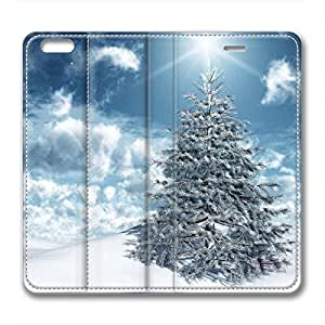 Christmas Trees Design Leather Iphone 6 Case White