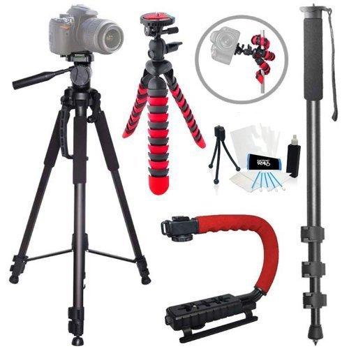 Action Tripod Kit for Nikon D3 D3S D3X D4 D60 D90 D600 D610 D700 D800 D800E D300S D3000 D3100 D3200 D3300 D5000 D5100 D5200 D5300 D7000 D7100 DF 1 AW1 ()