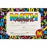 Math Award Mini Certificate - Matte Paper - Quantity 225