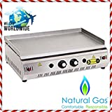 28 '' ( 70 cm ) NATURAL GAS Commercial Kitchen Equipment Countertop Flat Top Grill Restaurant Cooktop Griddle