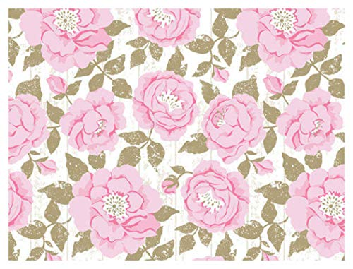 Country Rose Farmhouse Gift Wrap Wrapping Paper - 24 Inches x 15 Feet Roll (Gift Wrap Spring)