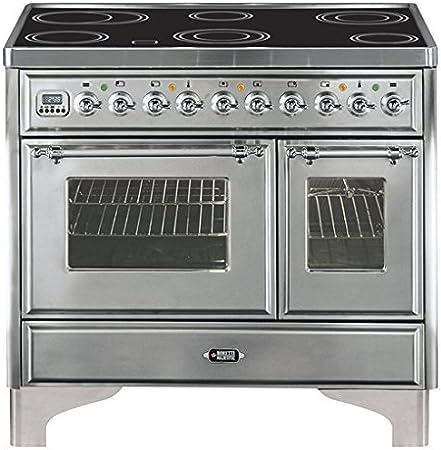 Boretti MBRI-104 IX - Cocina (Cocina independiente, Giratorio, Con placa de inducción, Vidrio, Eléctrico, 30 L): Amazon.es: Hogar