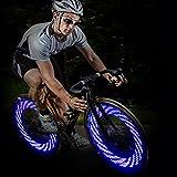 Glumes Bike Wheel Lights, LED IP55 Waterproof Bicycle Spoke Light 7-LED 15 Changes Patterns Bicycle Rim Tire Lights for Mountain Bike/Road Bikes/BMX Bike/Hybrid Bike/Folding Bike (blue)