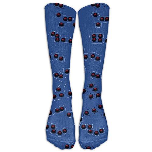 Have Fun Ice Hockey Custom Knee Socks Athletic Adults Casual Crew Socks by Jiushiwazi