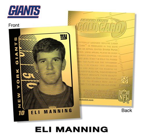 2003 ELI MANNING NY Giants ROOKIE 23K GOLD FOIL Card ()