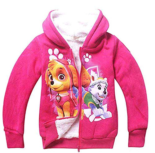 PCLOUD Cute Dog Girls' Hoodies Coat Jacket Fleece Warm Winter Outwear