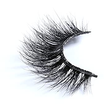e1b315eb2b9 Amazon.com : Smilco Real 3D Long Thick Mink Lashes Siberian Mink Eyelashes  Individual Extensions 1 Pack : Beauty