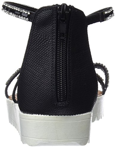 Noir Bout 64202 Black Ouvert Femme Refresh Sandales xXzOqpExn