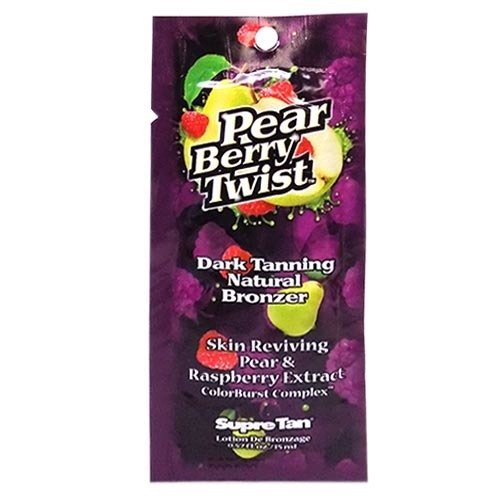 (3 Packets of Pear Berry Twist Dark Tanning Lotion Bronzer)