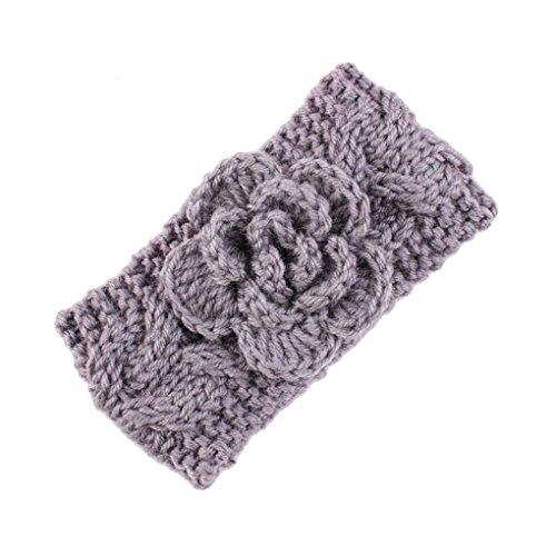 Baby Crochet Knitted with Flower Headband Braided Ear Warmer Hair Headwrap JA41 (2# -