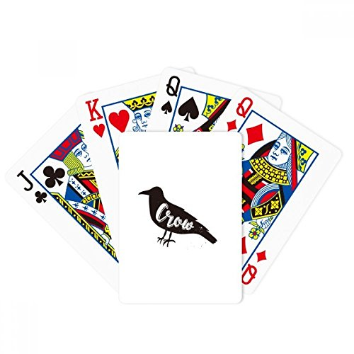 Crow Black And White Animal Poker Playing Card Tabletop Board Game Gift by beatChong
