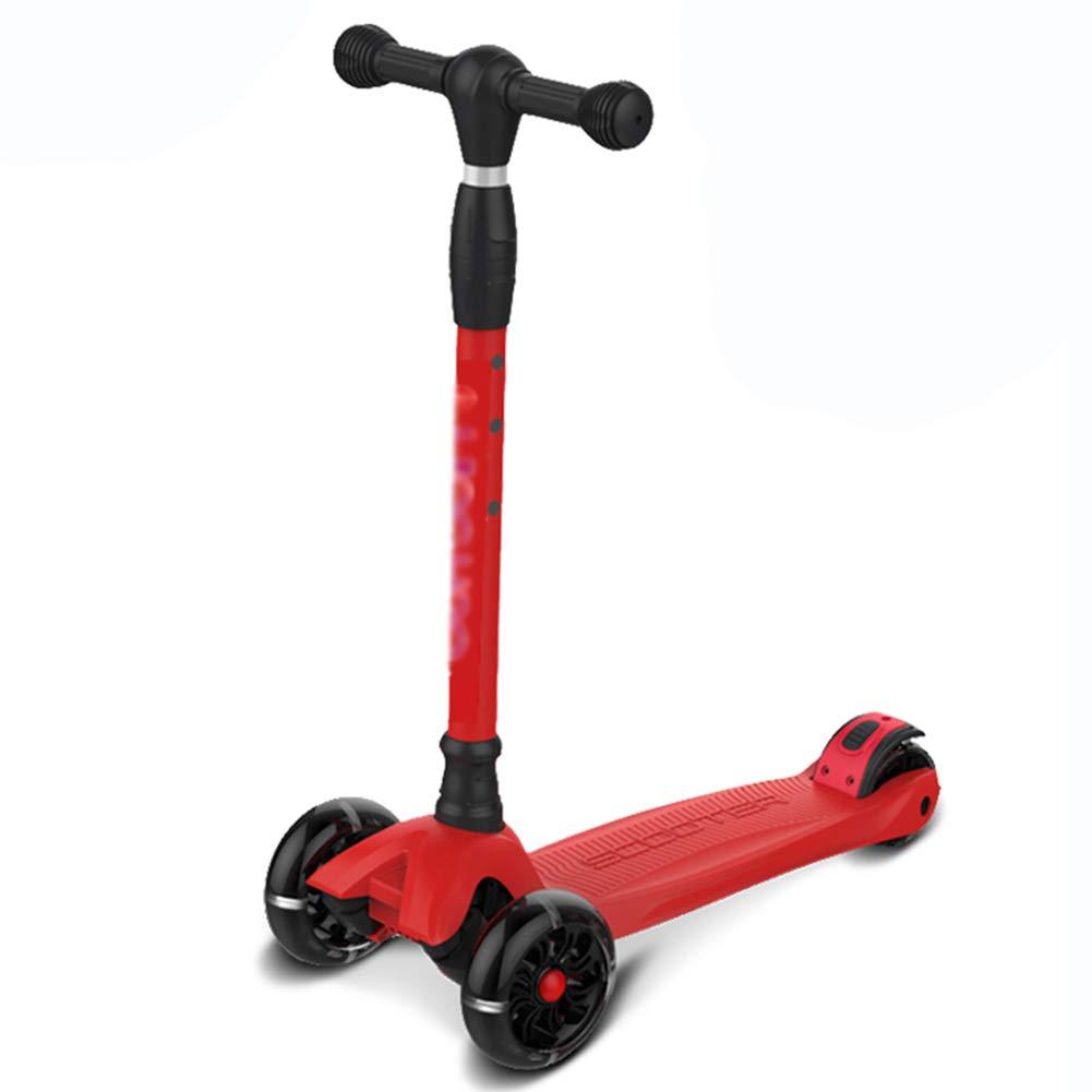正規品販売! キックスクーター三輪車スケートボードペダル式乗用スタントスクーターLED調節可能な折りたたみTバーハンドルライトアップホイール付き B07H9WP7C8 B07H9WP7C8 Wide wheel-Red wheel-Red Wide wheel-Red wheel-Red, ベストスリング:ef0b52c5 --- a0267596.xsph.ru