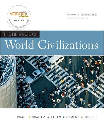 Amazon Com The Heritage Of World Civilizations Vol 2 8th Edition 9780136003229 Craig Albert M Graham William A Kagan Donald Ozment Steven E Books