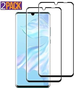 ESR Verre tremp/é pour Huawei P30 Pro Couverture Compl/ète Protection Ecran Film en Verre Tremp/é Protecteur d/écran Ultra R/ésistant Indice Duret/é 9H pour Huawei P30 Pro