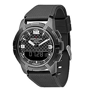 Smartwatches Relojes Digitales Hombres North Edge Reloj del ejército Pantalla de Hora Dual Hombre relogio Masculino Reloj Hombres Hombres Impermeables Reloj ...