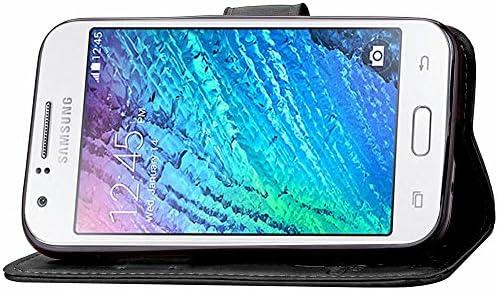 Guran® Funda de Cuero PU para Samsung Galaxy J1 Ace (J110H, 4 Inch ...