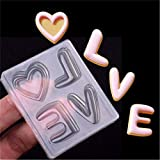 Dolland Love Letters Silicone Mold Sugar Craft Fondant Cake Tools Cake Decoration Mold Kitchen Baking Decoration Tool