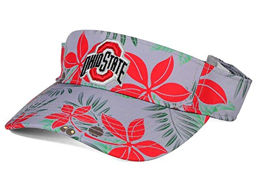 Ohio State Buckeyes Floral Print Visor