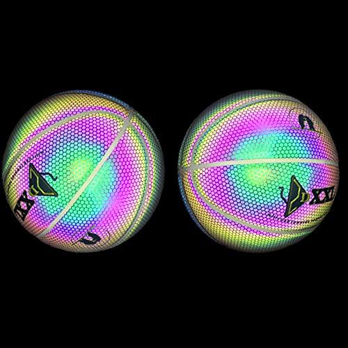 Trkee Luminous Basketball Night Game Street PU Glowing Rainbow Light Children Training Tool
