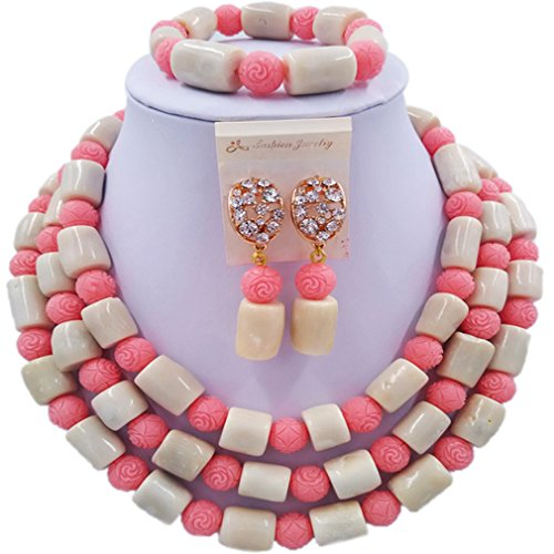 (laanc 3 Rows Custom Multicolor Coral and Shell 18