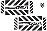 The Pixel Hut gs00008b BMW GS Adventure Motorcycle Reflective Decal Kit ''Large Chevrons R1200 GSA'' for Touratech Panniers - Black