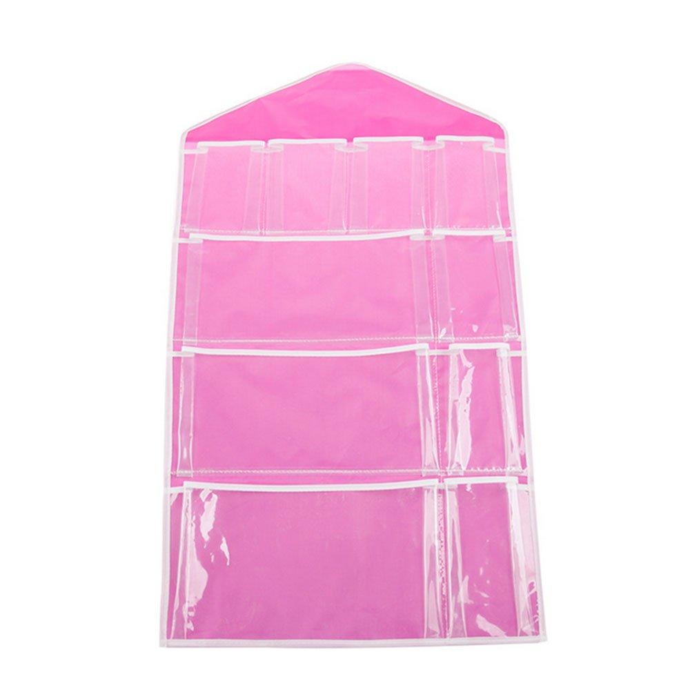 Hanging Organizer Over The Door 16 / 10-pocketシューズラックシェルフドアハンガーホルダーストレージバッグ 10 Pockets ピンク 4328036002 B074GQRN81 10 Pockets|ピンク ピンク 10 Pockets
