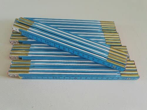 5 Zollst/öcke 2 Meter Holz wei/ß blau