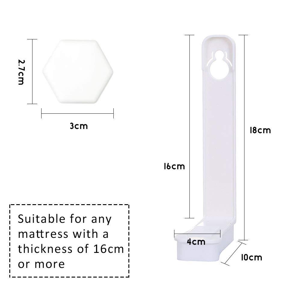 Facile /à Installer Hidreamz 4 Pi/èces Attaches Draps de Lit,Housse de Matelas Attaches de Garder Draps sur Votre Matelas