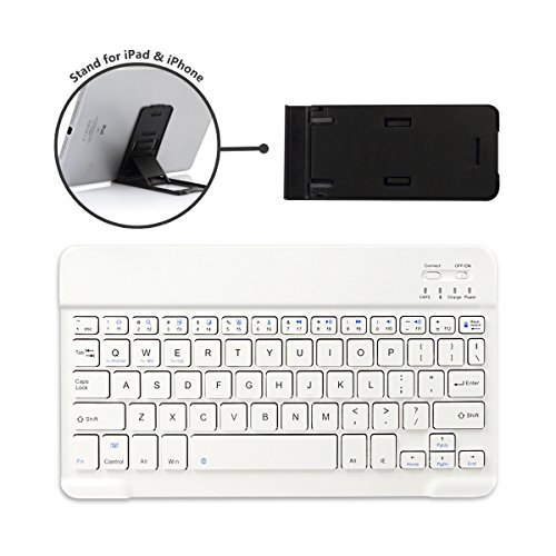 Feelkaus 10'' Ultra-Thin Wireless Bluetooth Keyboard with Stand for iOS Apple iPad 10.5, Suitable for iPad 9.7 2017/2018, iPad Air 2, iPad Air, iPad Pro 9.7, iPad 2 3 4, iPad Mini by Feelkaus (Image #2)
