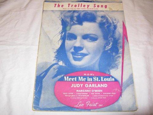 THE TROLLEY SONG JUDY GARLAND 1944 SHEET MUSIC SHEET MUSIC 354 ()