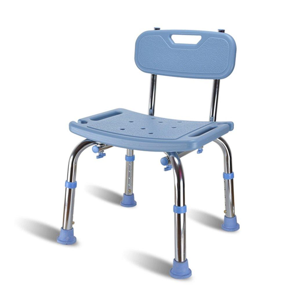 人気TOP ブルーコンフォート背もたれバスチェア高齢者/身体障害者/妊娠中の調節可能なアルミニウム合金バススツールアンチスリップチェア最大。 136kg B07FKL8RKM B07FKL8RKM, 十勝郡:9e55a82e --- kumarandsons.com