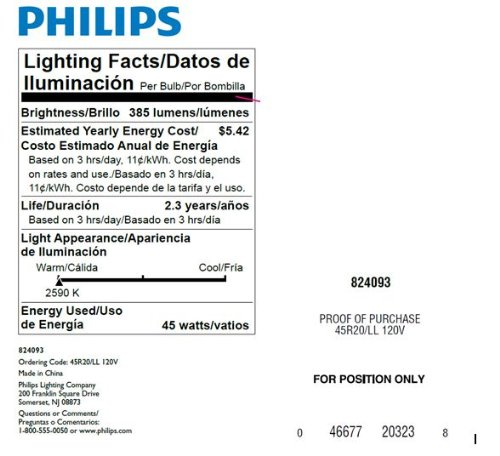 Philips 223115 Soft White 45-watt R20 Indoor Flood Light Bulb, 12 Pack