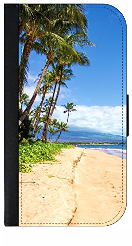 Palm Tree Beach - Wallet Style Phone Case Compatible with the Samsung Galaxy s3/s4/s5/s6/s6edge/s7/s7edge/s8/s8Plus - Choose Your Compatible Phone - Beach Outlets Palm