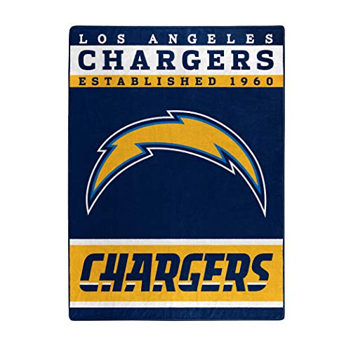 The Northwest Company Officially Licensed NFL Los Angeles Chargers Plush Raschel Blanket, 60