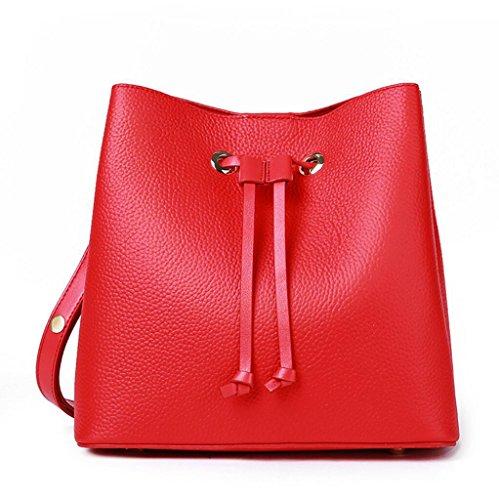 Bolso diagonal del bolso del cuero del bolso diagonal ocasional del bolso de hombro de la señora Red