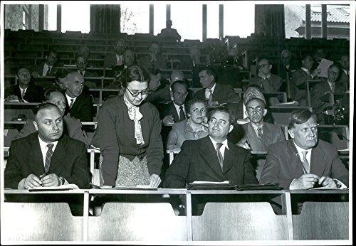 Vintage photo of The Russian delegation of meteorologists who lectured on meteorological observations at the North Pole for Congress participants at the University of Technology. - Meteorologists Rock