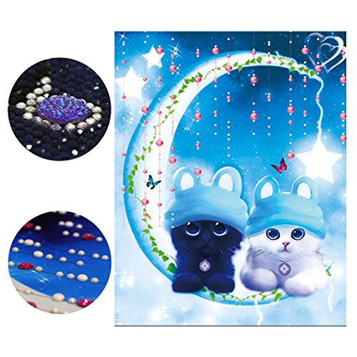 Mazixun 3D Special Shaped Drill Cat Diamond Beads Embroidery Diamond Painting Cartoon Kittens Diamant Schilderen 5D Hobby Wall Picture 50x61cm