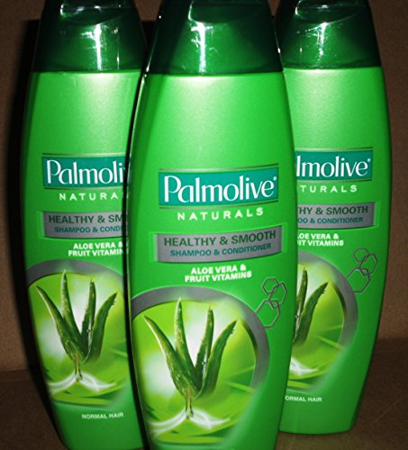 - Lot of 3 Palmolive Naturals Shampoo & Conditioner 2in1 Healthy & Smooth for Normal Hair 180mL/pk (Total 540mL)