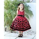 Angels Garment Toddler Girls Size 3T Red Velvet Dot Christmas Dress