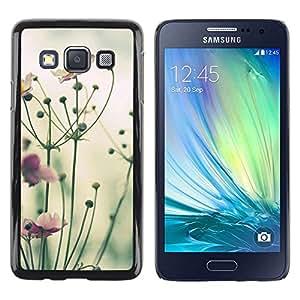 Be Good Phone Accessory // Dura Cáscara cubierta Protectora Caso Carcasa Funda de Protección para Samsung Galaxy A3 SM-A300 // Yellow Purple Green Nature Field Summer