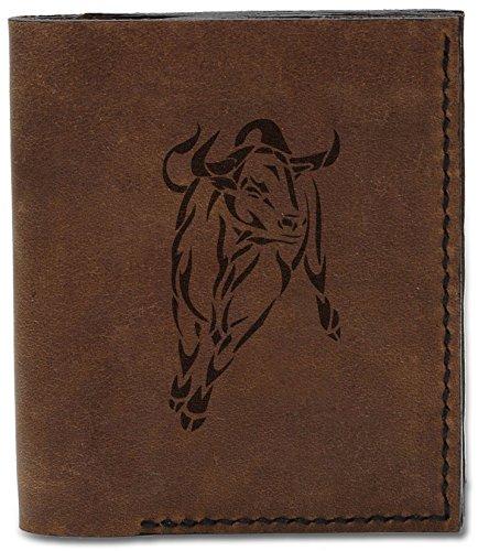 Natural Leather Handmade Men's 04 Wallet Bull 10 Tribal Tattoo b Tattoo MHLT Bull Genuine Tribal qnTTIYZw