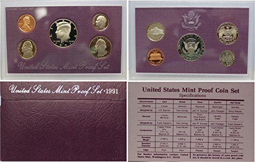 1991 Us Mint Proof (1991 S US Mint Proof Set OGP)