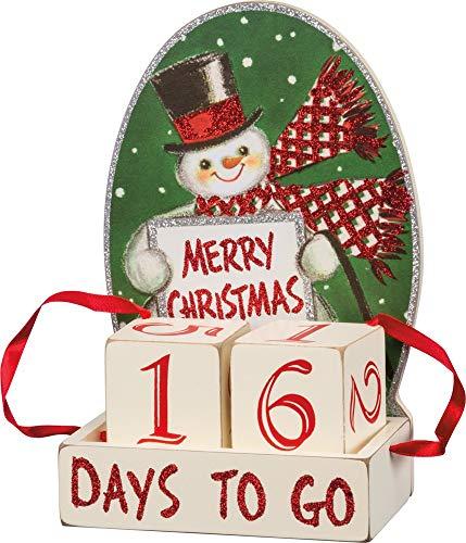 [해외]Primitives by Kathy Vintage-Inspired Block Countdown Retro Christmas / Primitives by Kathy Vintage-Inspired Block Countdown, Retro Christmas