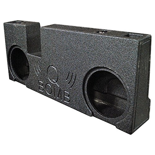 Q Power QBTUNDRA07210 Dual 10'' Ported Subwoofer Enclosure for 2007-2017 Tundra Double Cab Trucks with Bed Liner Finish