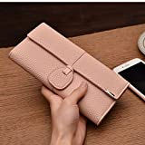 JD Million shop New Design Leather Wallets Women Luxury Brand Purses Woman Wallet Long Hasp Female Purse Card Holder Clutch Feminina Carteira