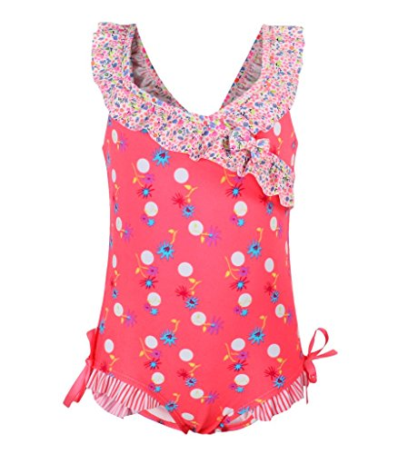 (Dalary Baby Girl's Retro Floral One Piece Swimsuit)